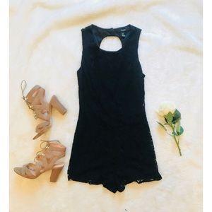 Forever 21   Black Lace Romper - Medium